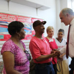 Sen. Casey with residents at Lebanon Travel